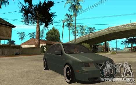 VW Bora para GTA San Andreas vista hacia atrás