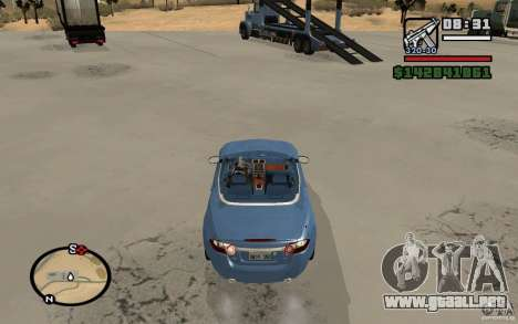 Jaguar XK Convertable para GTA San Andreas vista posterior izquierda