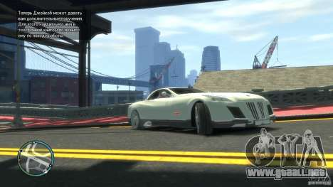 Maybach Exelero para GTA 4 left