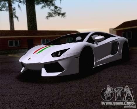 Lamborghini Aventador LP700-4 2011 para la vista superior GTA San Andreas