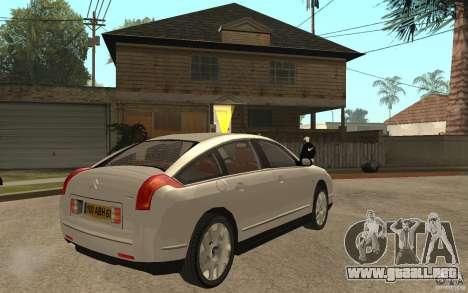 Citroen C6 para la visión correcta GTA San Andreas