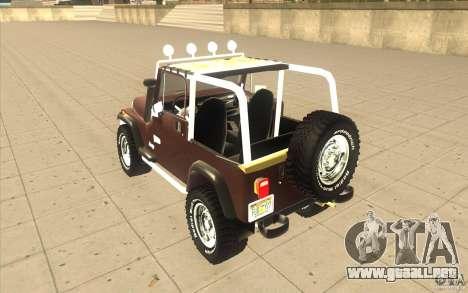 Jeep Wrangler 1986(2) para la visión correcta GTA San Andreas