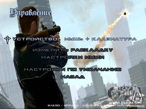 Menú como el de GTA IV para GTA San Andreas quinta pantalla