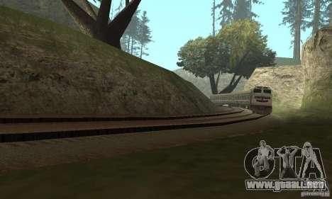 El coche de los ferrocarriles rusos 2 para GTA San Andreas vista posterior izquierda