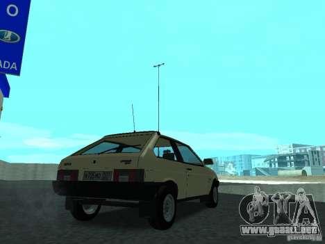 VAZ 2108 CR v. 2 para GTA San Andreas vista posterior izquierda