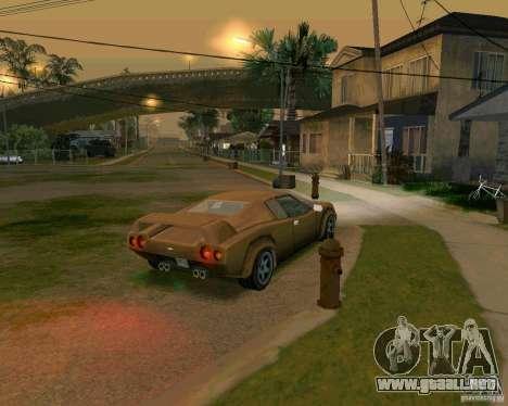 Infernus from Vice City para GTA San Andreas vista posterior izquierda