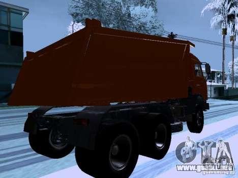 KAMAZ 54115 camión para la visión correcta GTA San Andreas