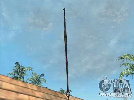 La lanza de Predator para GTA San Andreas segunda pantalla