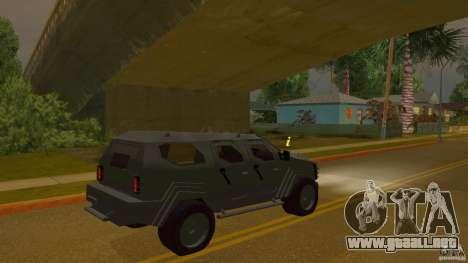 Gurkha LAPV para GTA San Andreas left