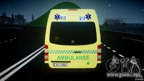 Mercedes-Benz Sprinter PK731 Ambulance [ELS] para GTA 4 ruedas