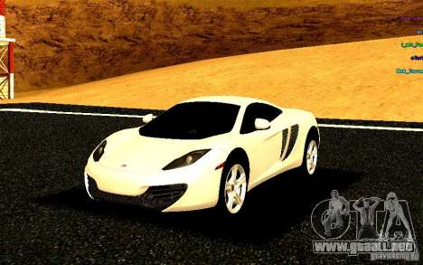 McLaren MP4-12C 2011 para GTA San Andreas