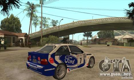 Ford Escort RS Cosworth para vista lateral GTA San Andreas