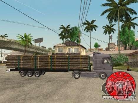 El portador de madera remolque KRONE para GTA San Andreas left
