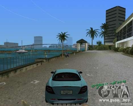 Mercedess Benz SLR Maclaren para GTA Vice City visión correcta