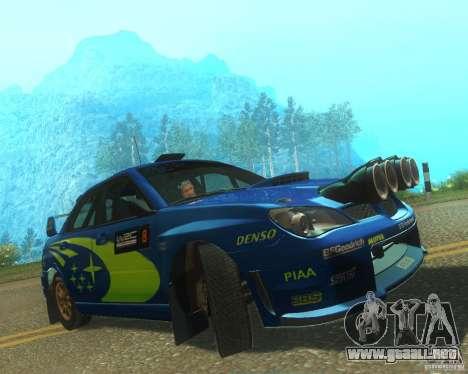 Subaru Impreza WRX STI DIRT 2 para GTA San Andreas left