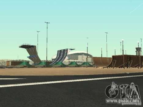 Drift track and stund map para GTA San Andreas segunda pantalla