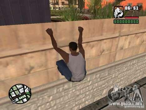 PARKoUR para GTA San Andreas sucesivamente de pantalla