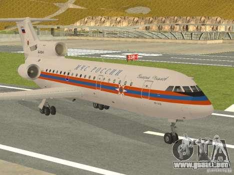 Yak-42 EMERCOM de Rusia para GTA San Andreas