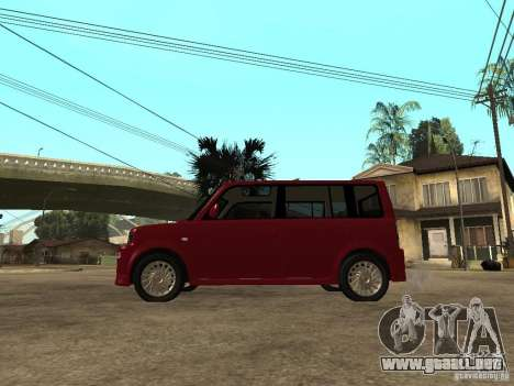 Toyota BB para GTA San Andreas left