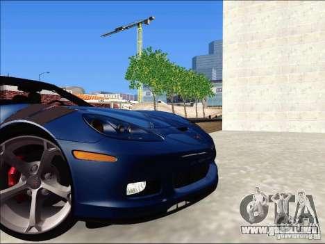 Chevrolet Corvette Grand Sport Cabrio 2010 para GTA San Andreas vista hacia atrás