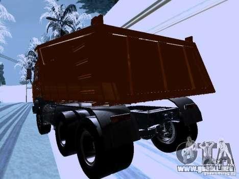 KAMAZ 54115 camión para GTA San Andreas vista posterior izquierda