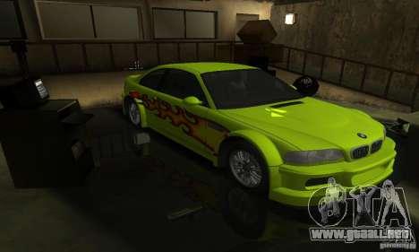BMW M3 Tuneable para las ruedas de GTA San Andreas