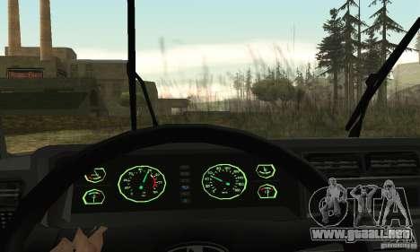 Vaz 2107 Stock v.2 para visión interna GTA San Andreas