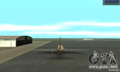 Boeing 737-100 para GTA San Andreas vista posterior izquierda