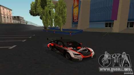 BMW E92 M3 para GTA San Andreas vista hacia atrás