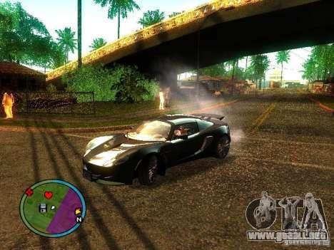Lotus Exige - Stock para GTA San Andreas vista posterior izquierda
