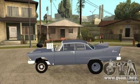 Plymouth Savoy Gasser 1957 para GTA San Andreas left