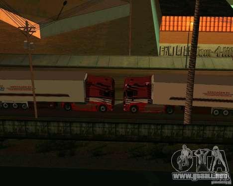 Scania TopLine para visión interna GTA San Andreas