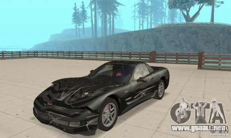 Chevrolet Corvette 5 para vista lateral GTA San Andreas