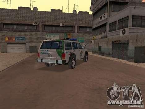 Jeep Cherokee Police 1988 para la visión correcta GTA San Andreas