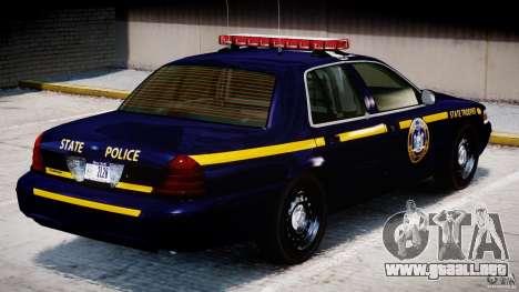 Ford Crown Victoria New York State Patrol [ELS] para GTA 4 interior