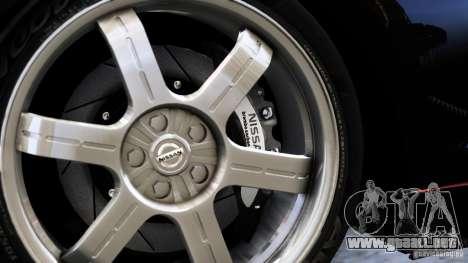 Nissan GT-R R35 SpecV 2010 para GTA 4 Vista posterior izquierda