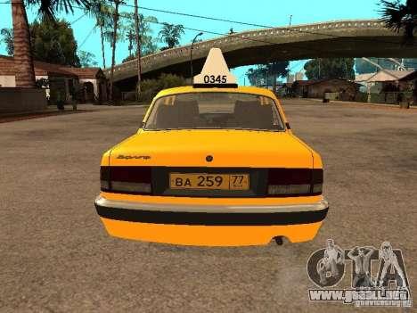 Volga GAZ-31105 Taxi para GTA San Andreas interior