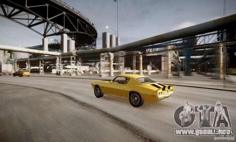 Chevrolet Camaro Z28 para GTA 4 vista desde abajo