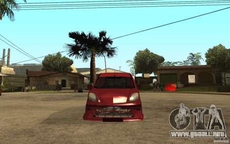Renault Kangoo Tuning para la visión correcta GTA San Andreas