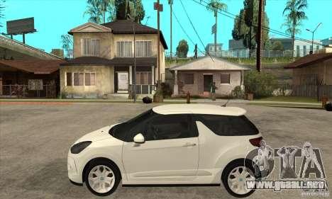 Citroen DS3 2010 para GTA San Andreas left