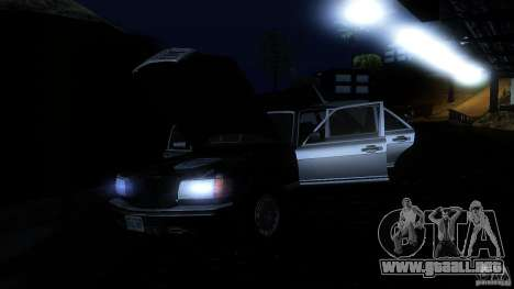 Mercedes Benz 560SEL w126 1990 v1.0 para vista inferior GTA San Andreas