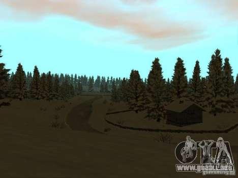 Camino de invierno para GTA San Andreas quinta pantalla