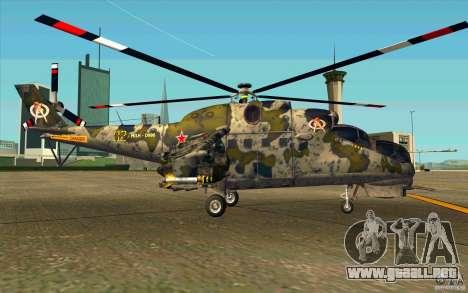 Mi-24 para GTA San Andreas vista posterior izquierda
