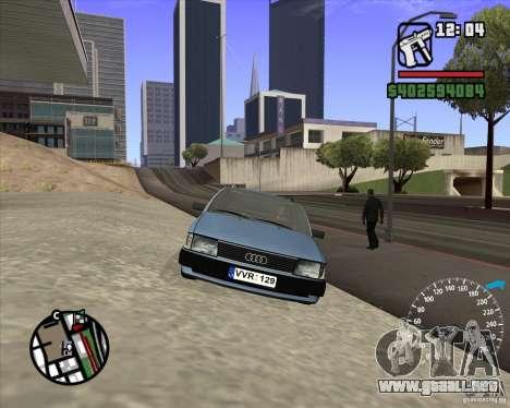 Audi 100 Avant para GTA San Andreas vista hacia atrás