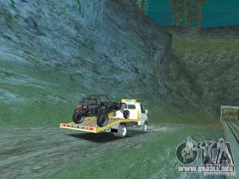 GAZ 3302 2003-2011. Camión de remolque para GTA San Andreas vista posterior izquierda
