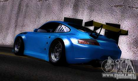 Porsche 911 GT3  RWB para GTA San Andreas vista posterior izquierda