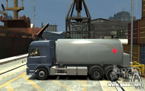 Mercedes Benz Actros Gas Tanker para GTA 4 left