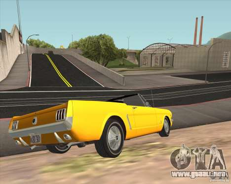 Ford Mustang 289 1964 para GTA San Andreas vista hacia atrás