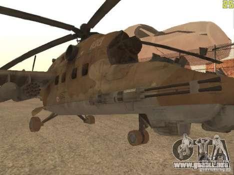 Mi-24P Desert Camo para GTA San Andreas left