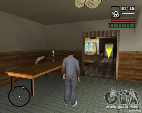 Sustitución de la CJeâ casa entera para GTA San Andreas octavo de pantalla